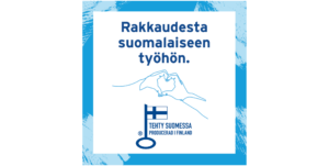 Avainlippu-sinivuokko-rakkaudesta suomalaiseen työhön
