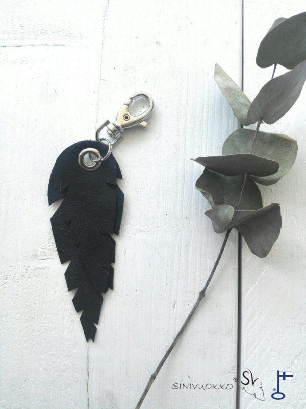 lehti-avaimenpera-laukkukoru-musta-sinivuokko