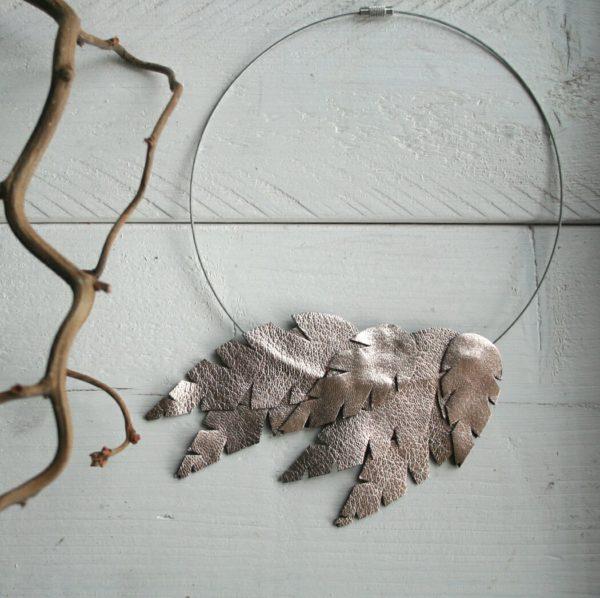 lehti-kaulakoru-rengas-ruusukulta-rose-gold
